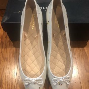Cole Haan downtown ballet white size 8.5 new